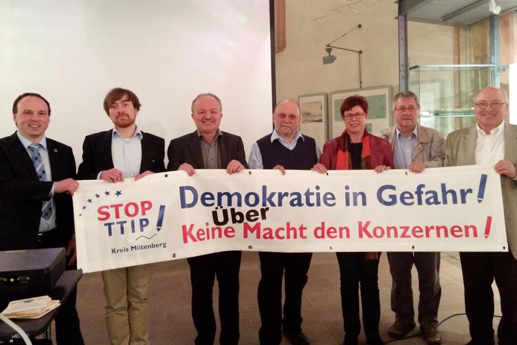 STOP TTIP Miltenberg - Foto: Ruth Weitz